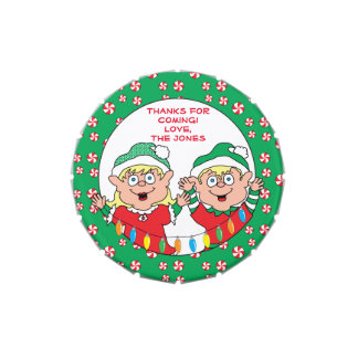 """Christmas Candy Tin Party Favor """"Happy Elves"""""""