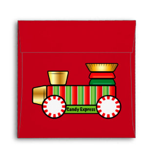 Christmas Candy Train Envelope