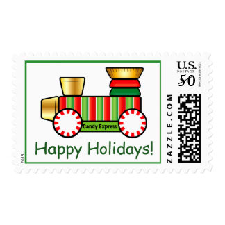 Christmas Candy Train Postage