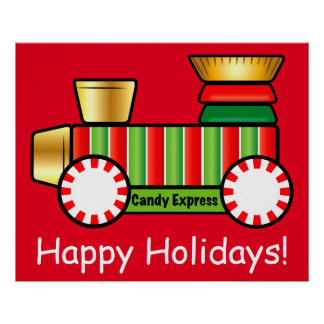 Christmas Candy Train Poster