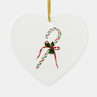 Christmas candycane ceramic ornament