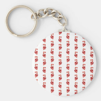 Christmas Candycanes Basic Round Button Keychain