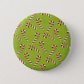 Christmas Candycanes Pinback Button