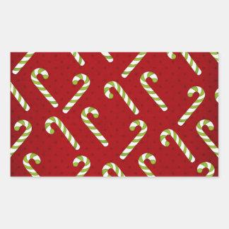 Christmas Candycanes Rectangular Sticker