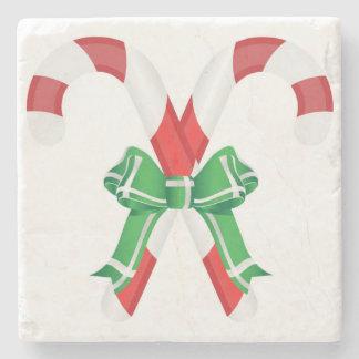 CHRISTMAS CANDYCANES STONE COASTER