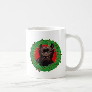 Christmas Cane Corso dog Coffee Mug