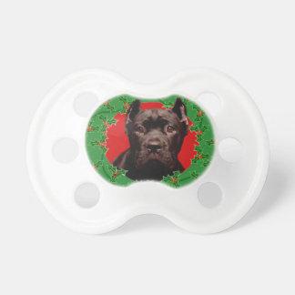 Christmas Cane Corso dog Pacifier