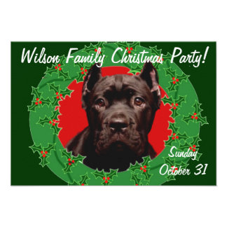 Christmas Cane Corso dog Personalized Announcement
