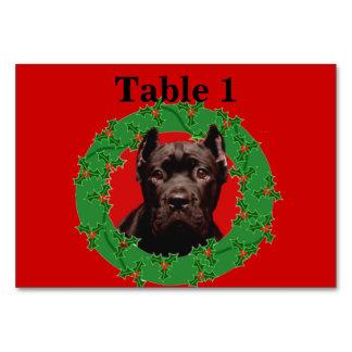 Christmas Cane Corso dog Table Card