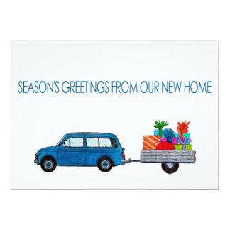 Christmas Car Season's Greetings from New Home Card