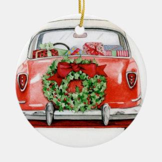 CHRISTMAS CAR TREE ORNAMENT