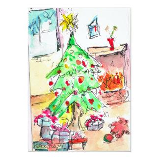"""Christmas Card 5"""" X 7"""" Invitation Card"""