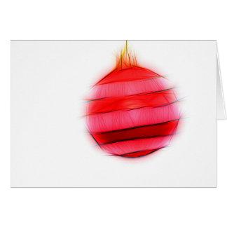 Christmas card Abstract Christmas ball talk and