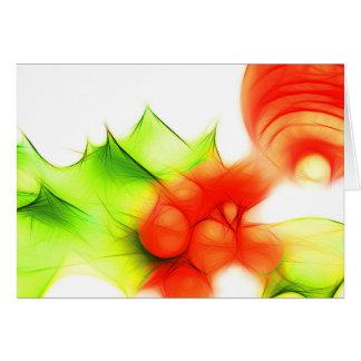 Christmas card abstract holly