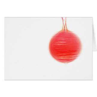 Christmas card abstract talk Christmas ball