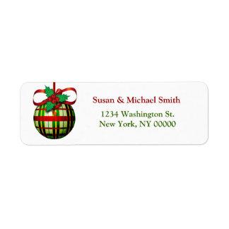 Christmas Card Address Labels   Christmas Ornament