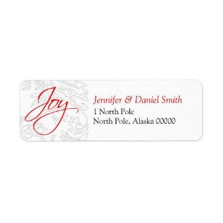 Christmas Card Address Stickers