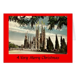 Christmas Card - Barcelona, Sagrada Familia