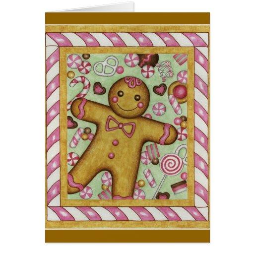 Christmas Card Big Gingerbread Boy