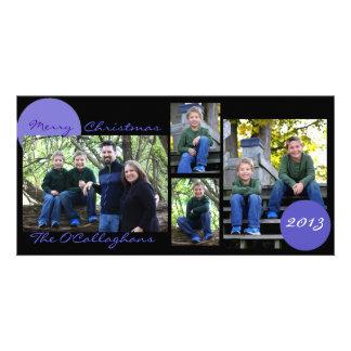Christmas Card - Black with Light Blue/Purple