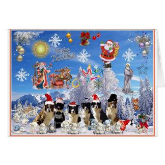 Christmas card Border collie