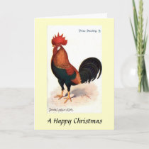 Christmas Card - Brown Leghorn Cock