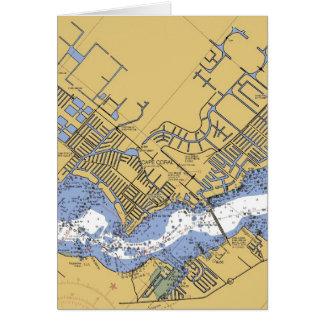 Christmas Card  Cape Coral Navigational Chart