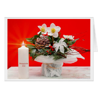 Christmas card Christian rose Besinnliche time