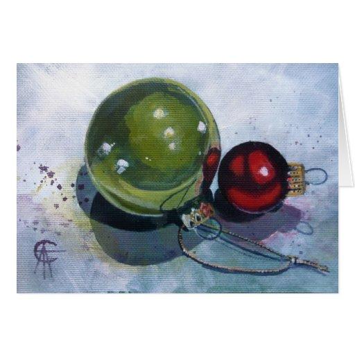 Christmas Card - Christmas Baubles