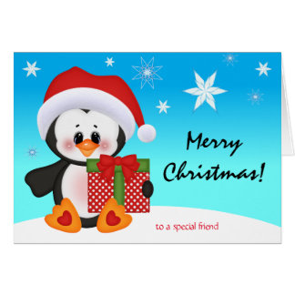 Christmas Card Cute Funny Penguin Gift