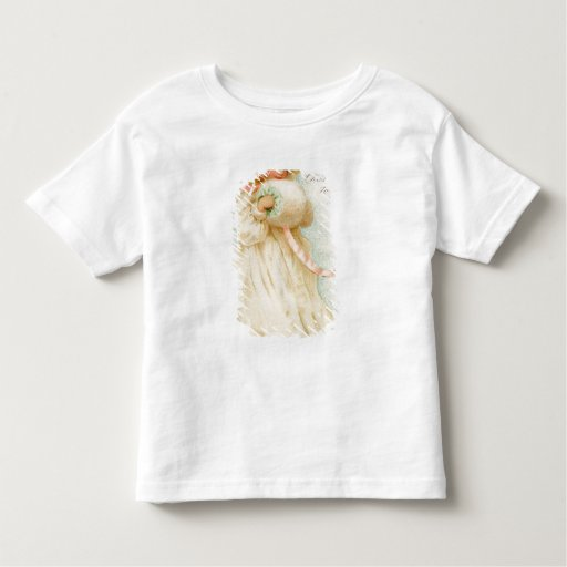 Christmas card depicting a girl with a muff toddler t-shirt