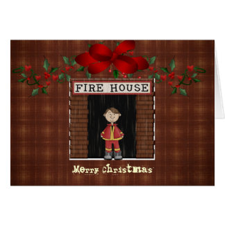 Christmas Card...Fire House Card