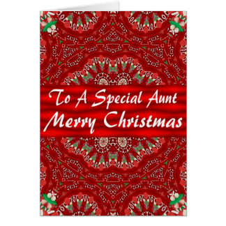 Christmas Card For Aunt