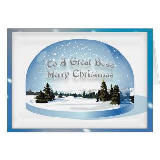Christmas Card For Boss