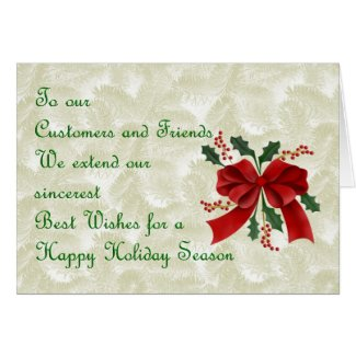 Christmas card for customer from business