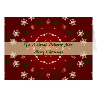 Christmas Card For Delivery Man