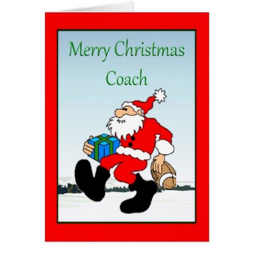 Christmas Card For Football Coach