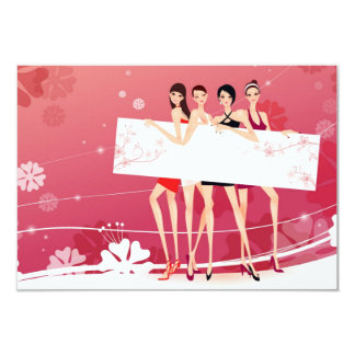 "Christmas card for friends ""Girls """