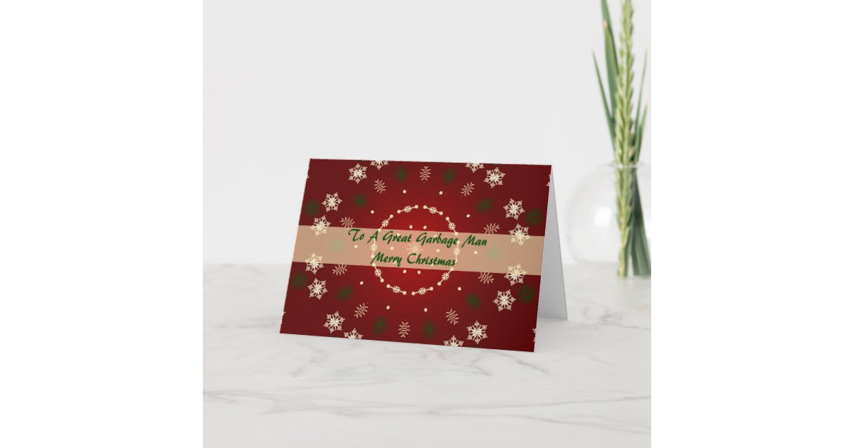Christmas Card For Garbage Man Zazzle Com