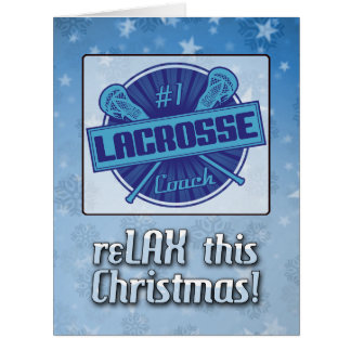 Christmas Card For Lacrosse Coaches, LAX