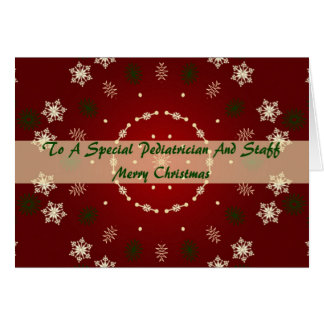 Christmas Card For Pediatrician And Staff
