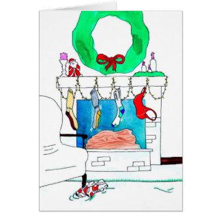Christmas Card for Runner - Sports Bra Ho Ho Ho