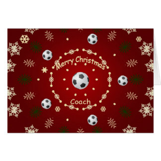 Christmas Card For Soccer Coach