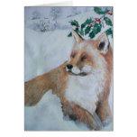 Christmas Card - Fox