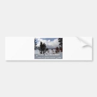 Christmas Card Frohe Weihnachten Car Bumper Sticker
