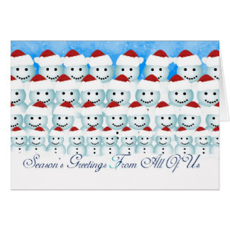 Christmas Card From All Of Us, Snowmen