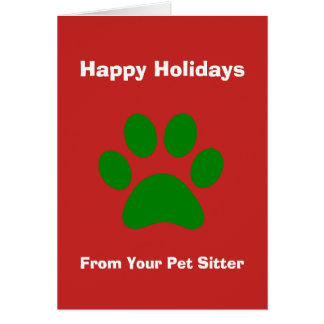 Christmas Card From Your Pet Sitter