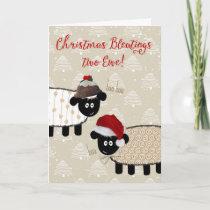 Christmas Card - Funny Sheep
