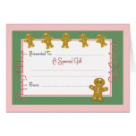 Christmas Card Gift Certificate
