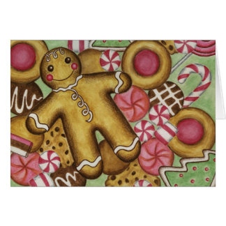 Christmas Card Gingerbread Cookies